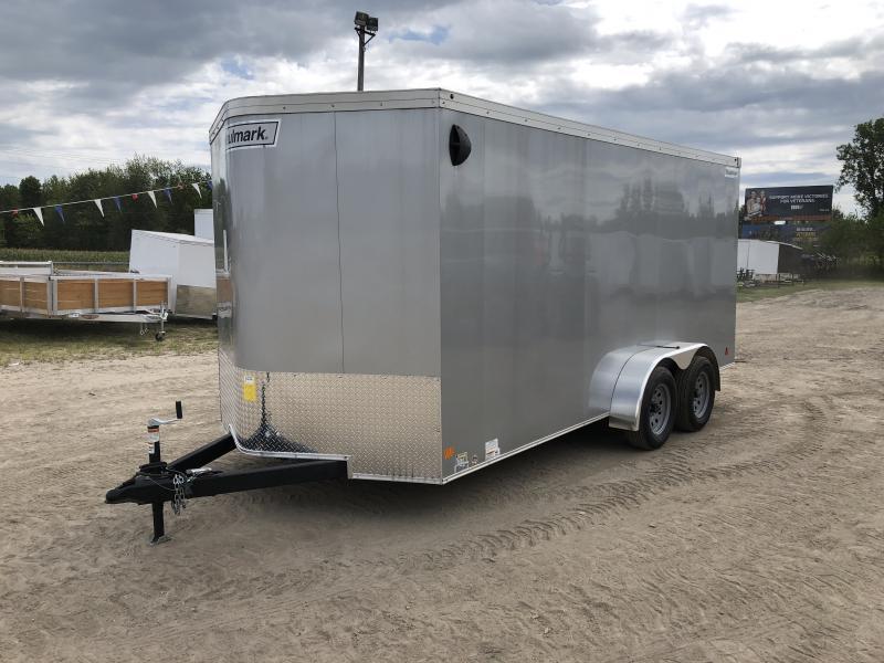 Haulmark Transport 7x16 V-Nose Ramp Door Enclosed Trailer Silver 6ft 6in Interior