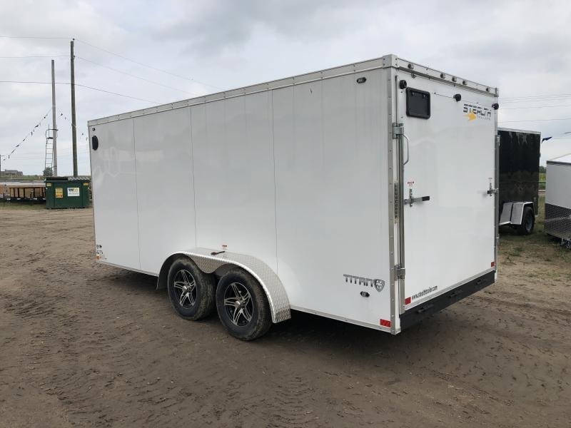 Stealth Trailers 7x16 Titan Enclosed Trailer White