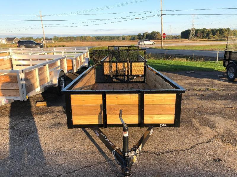 5 x 10  AMO Landscape Light Duty Wood Side Trailer