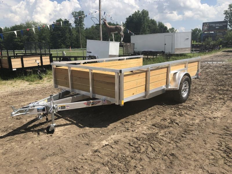 H and H Trailer 82X12 Aluminum Woodside