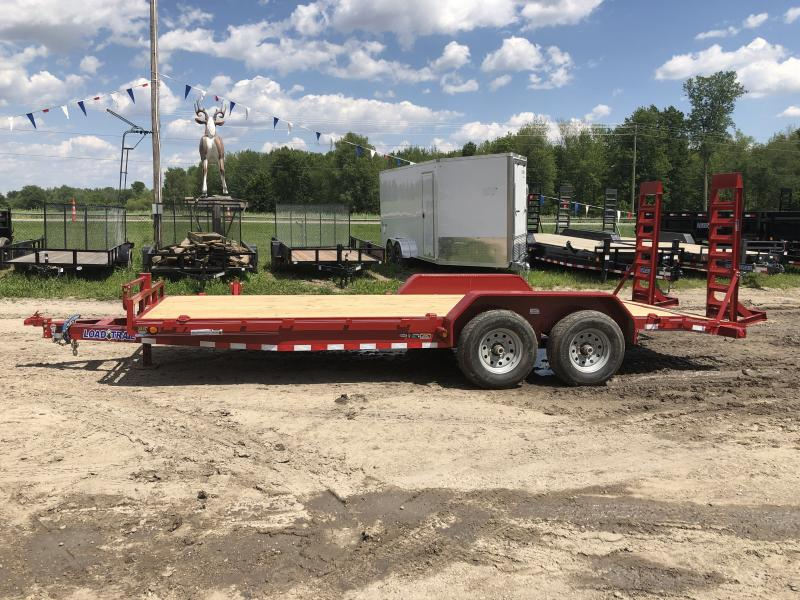 Load Trail 20ft 14K Equipment Trailer W/Rub Rail Red