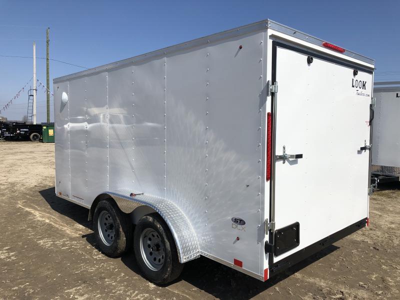 Look Trailers 7x14 Ramp Door Enclosed Cargo Trailer White