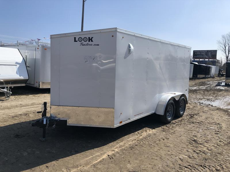 Look Trailers 7x14 Ramp Door Enclosed Cargo Trailer White
