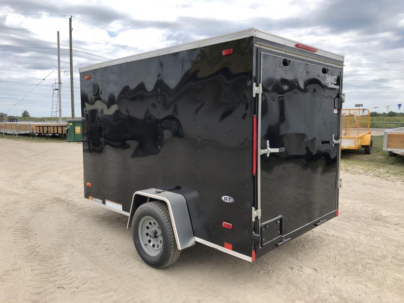 Look Trailers 6X10 V-Nose Ramp Door Enclosed Trailer Black