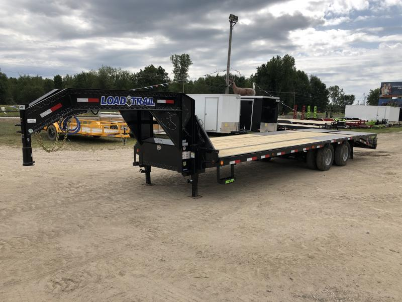 2019 Load Trail 28 Low Profile Deckover 22K Gooseneck Equipment Flatbed Trailer