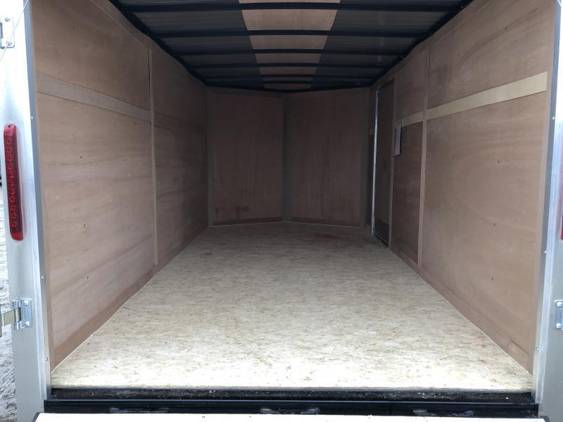 MTI Trailers USA 7X14 V-Nose Ramp Door Enclosed Cargo Trailer