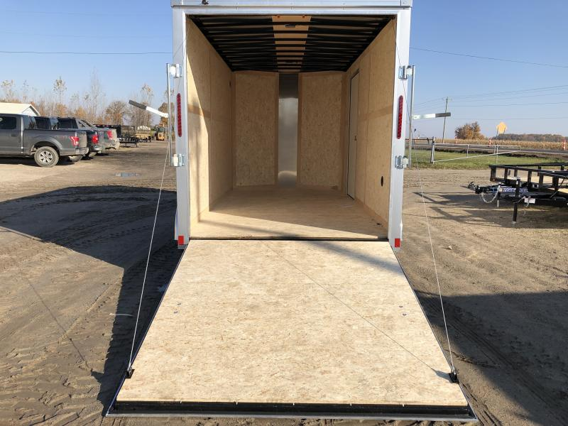 Haulmark Transport 7x14 V-Nose Ramp Door Enclosed Trailer Silver 7ft Interior