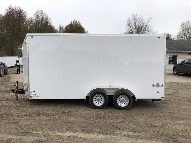 Stealth Trailers Mustang 7x16 UTV +12IN V-Nose Ramp Door Enclosed Cargo Trailer