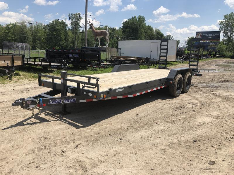 Load Trail 83 x 22 14k Equipment Trailer Gray