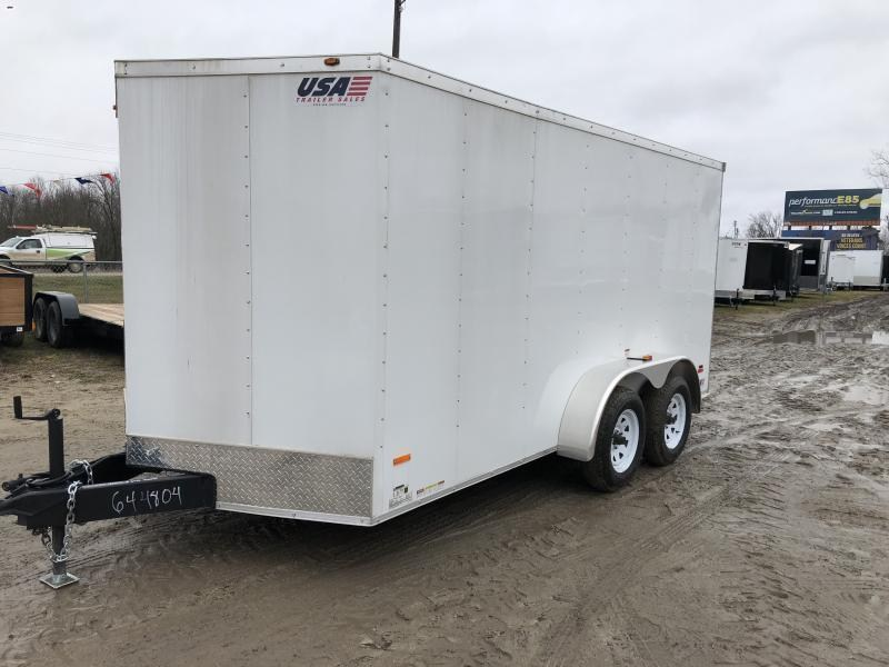 MTI Trailers USA 7X14 V-Nose Ramp Door Enclosed Cargo Trailer