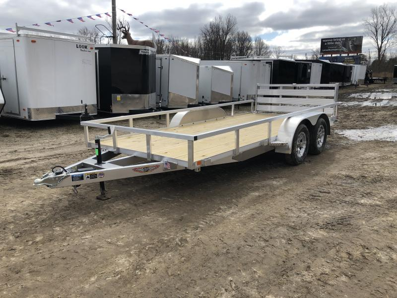 H and H 82x16 Tandem Axle Aluminum Utility Trailer