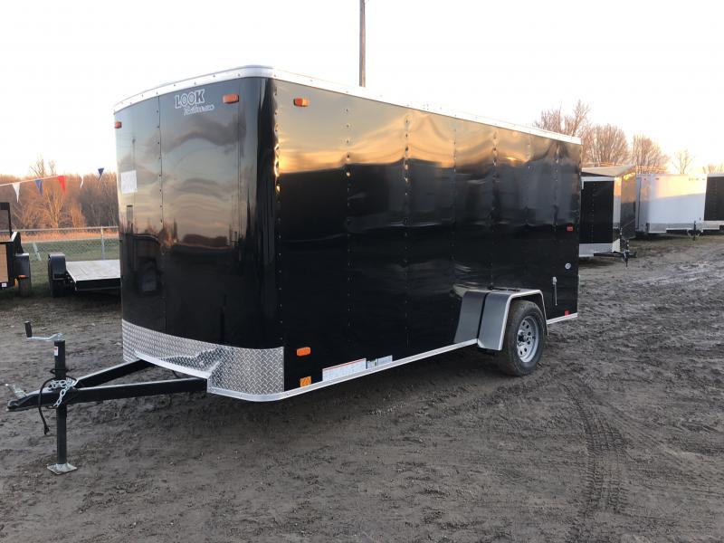 Look Trailers 6x14 Barn Door Enclosed Cargo Trailer Black