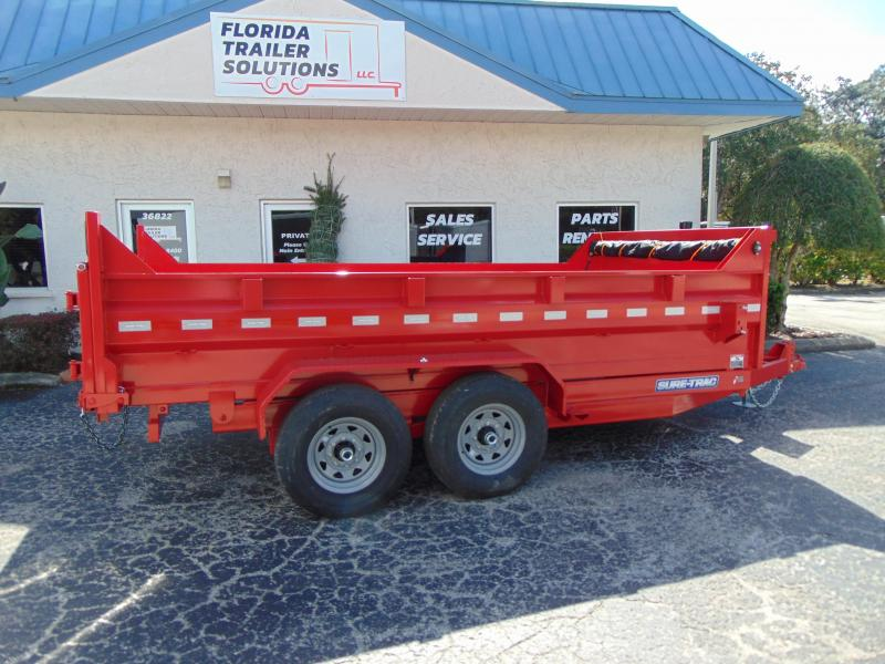 New Sure-Trac 82X14 14k Telescopic Dump Trailer