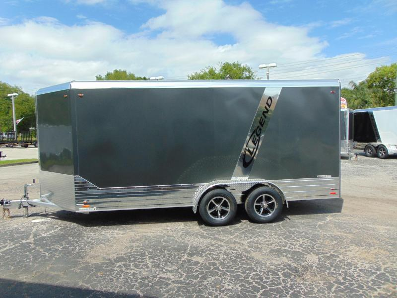 CLEARANCE! 2019 Legend Manufacturing 7X19 Deluxe V-Nose All  Aluminum Enclosed Cargo Trailer