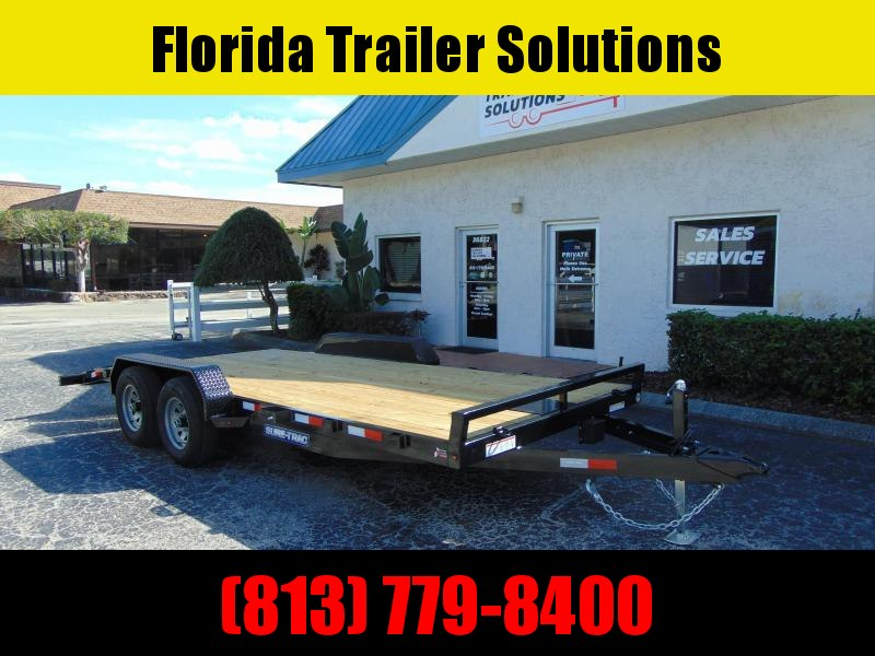 New Sure-Trac 7X18 Wood Deck 10k Car Hauler