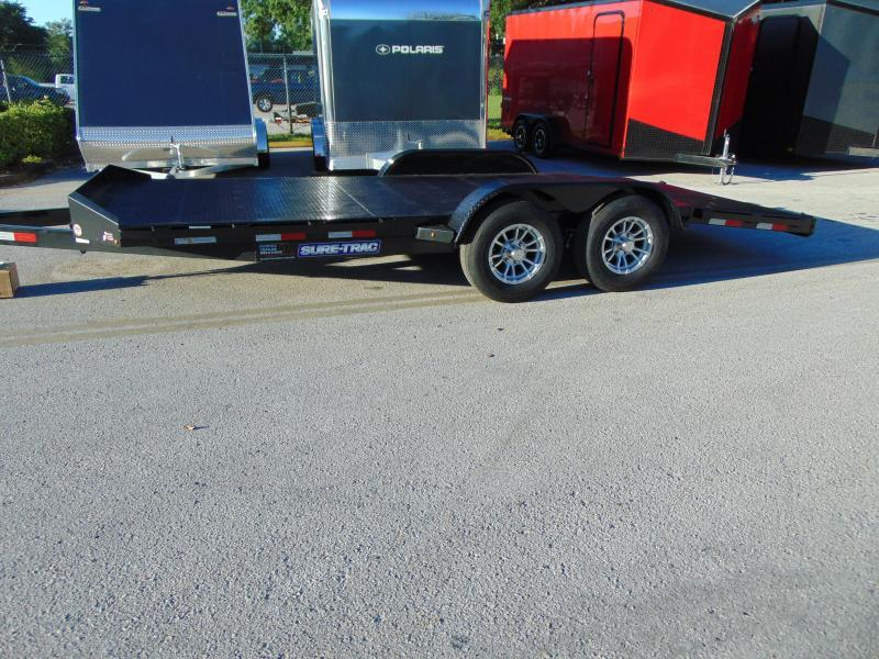 2019 Sure-Trac 7X18 10K Steel Deck Car Hauler