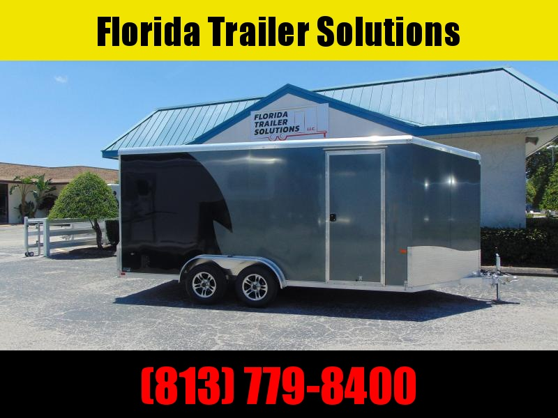 "CLEARANCE!  2019 NEO Trailers 7.5X16 Aluminum Enclosed Cargo / Motorcycle Trailer 12"" Addtl Height"