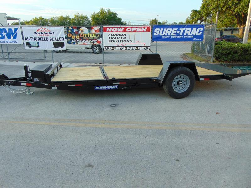 New Sure-Trac 78X12+4 Tilt Deck 7.8K Equipment Trailer