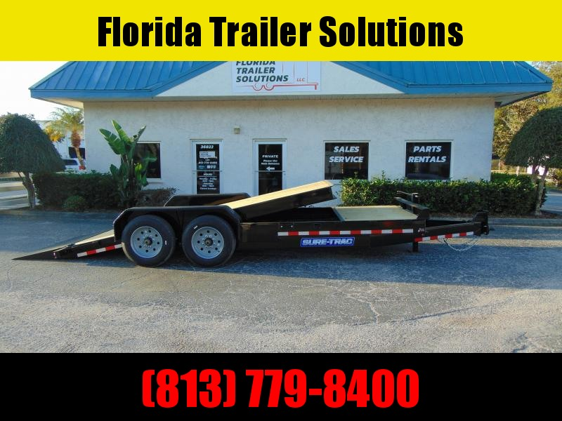 New Sure-Trac 7X16+4 Tilt Bed 16K Equipment Trailer
