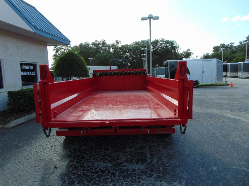 New Sure-Trac 82x16 Low Profile 16k Telescopic Hoist Dump Trailer
