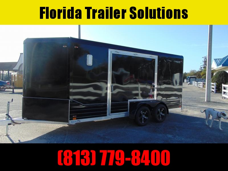 """New Legend Mfg 7X16 DVN All Aluminum w/Black Out Enclosed Cargo Trailer w/6"""" Additional Height"""