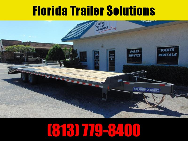 New Sure-Trac 8.5X25+5 LowPro Deckover 22.5k Equipment Trailer