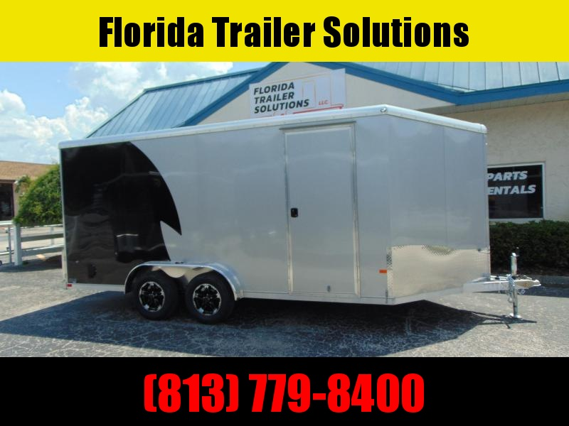 """New NEO Trailers 7.5X16 Aluminum Enclosed Cargo / Motorcycle Trailer 12"""" Addtl Height"""