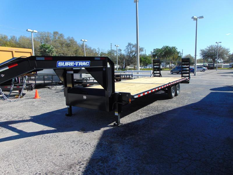 New Sure-Trac 8.5 x 22+4 Beavertail Gooseneck 15k Equipment Trailer