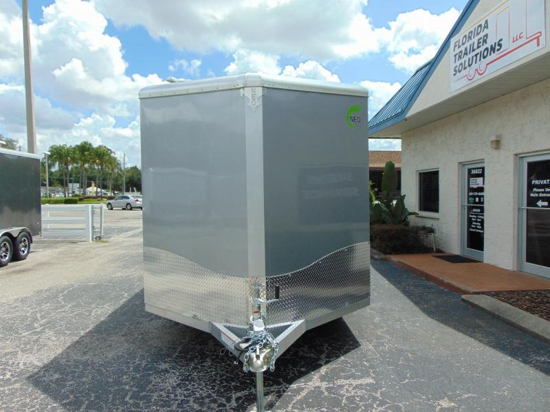 "New NEO Trailers 7.5X14 Aluminum Enclosed Cargo / Motorcycle Trailer 12"" Addtl Height"