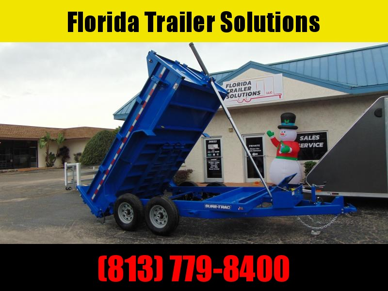 New Sure-Trac 82x12 Low Profile 12k Telescopic Hoist Dump Trailer