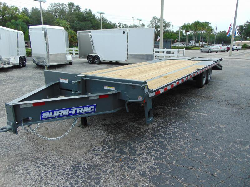 2019 Sure-Trac 8.5X20+5 LowPro Deckover 17.6k Equipment Trailer