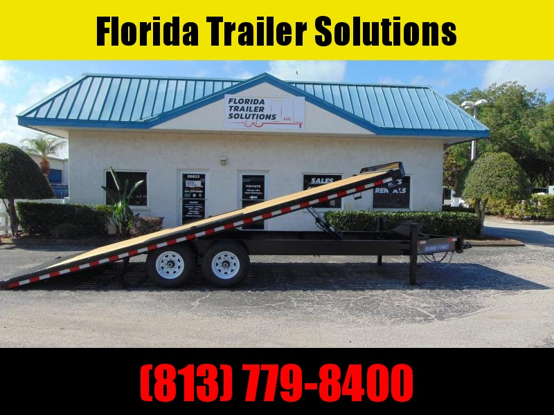 New Sure-Trac 102X22 Deckover Tilt 15k Equipment Trailer