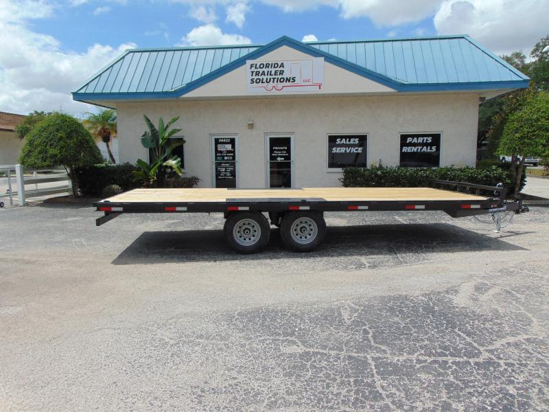 New Sure-Trac 8.5X20 10k Flat Deck Deckover Equipment Trailer