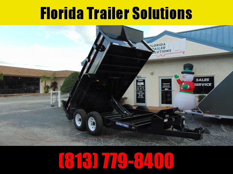 CLEARANCE!  Sure-Trac 82x12 Low Profile 12k Scissor Hoist Dump Trailer