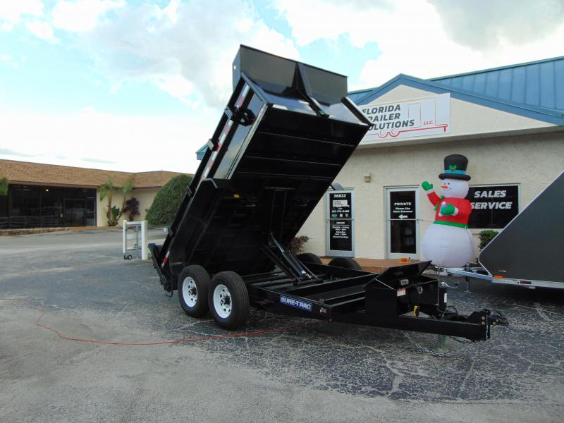 Sure-Trac 82x12 Low Profile 12k Scissor Hoist Dump Trailer