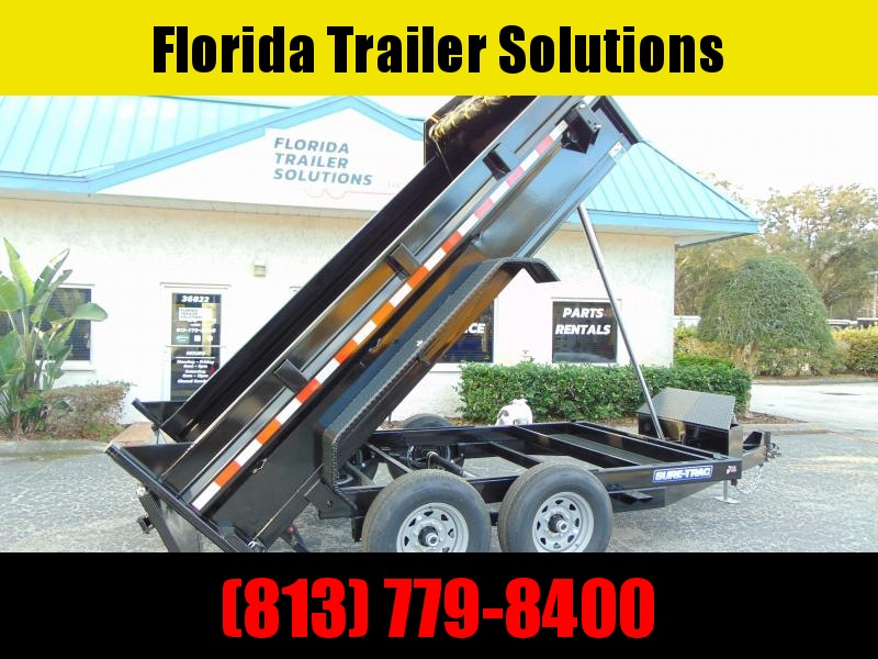 New Sure-Trac 82x12 Low Profile 14k Telescopic Hoist Dump Trailer
