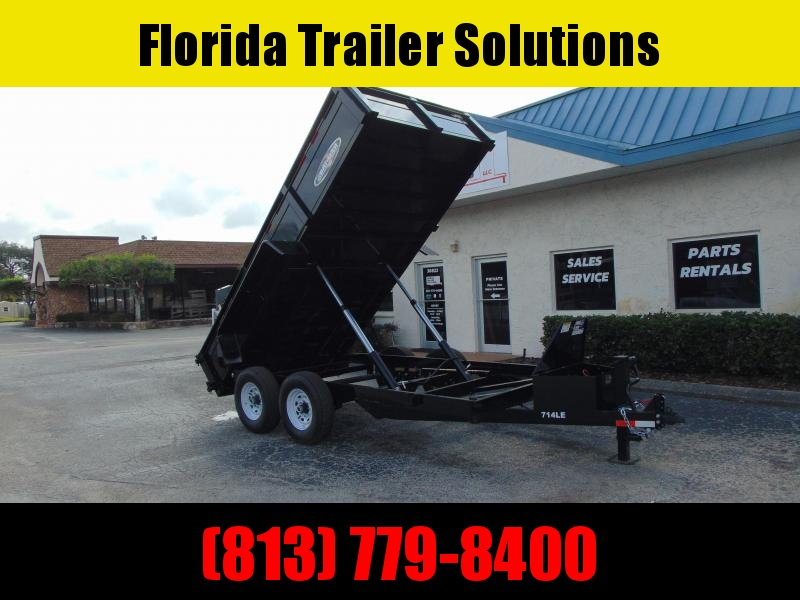 New Bri-Mar 7x14 Low Profile 14k Dump Trailer