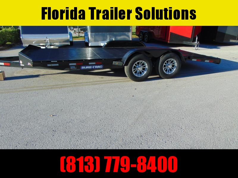 New Sure-Trac 7X18 10K Steel Deck Car Hauler
