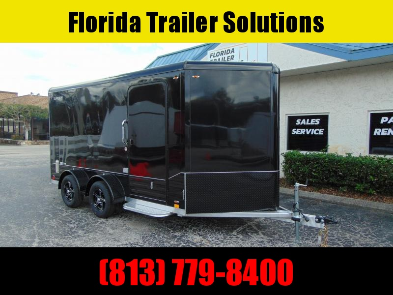 """New Legend Mfg 7X14 DVN All Aluminum w/Black Out Enclosed Cargo Trailer w/6"""" Additional Height"""