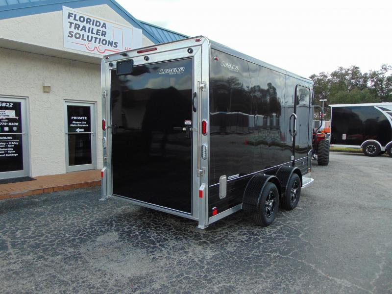 "New Legend Mfg 7X14 DVN All Aluminum w/Black Out Enclosed Cargo Trailer w/6"" Additional Height"
