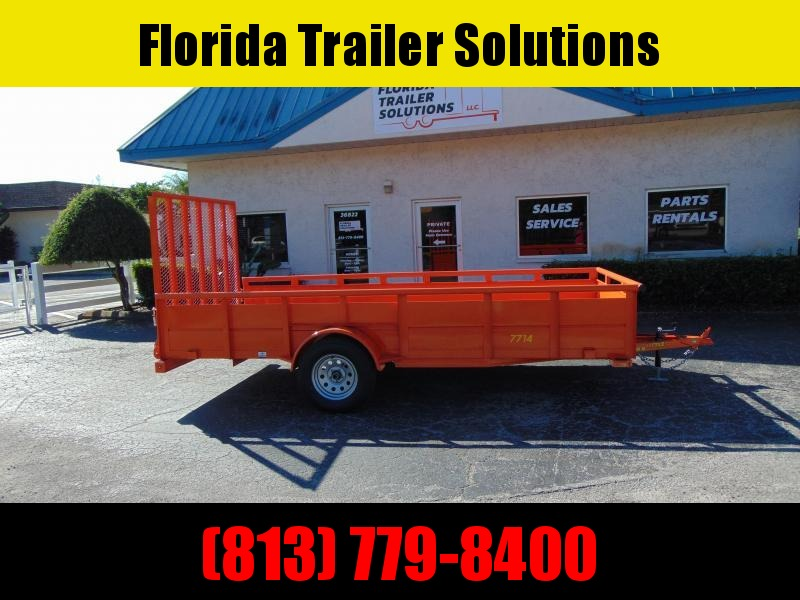 CLEARANCE! 2019 Pre-Owned Doolittle Trailer Mfg Heavy Duty 77X14 Utility Trailer