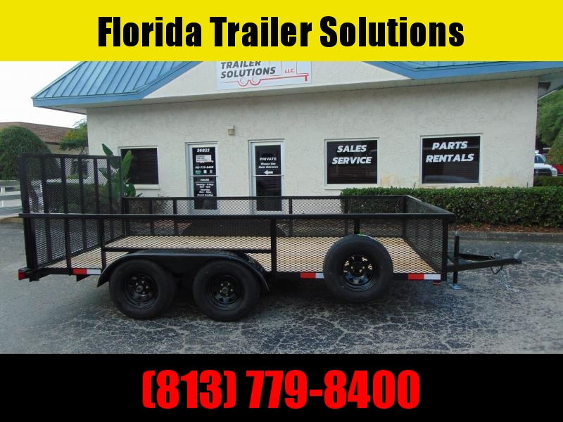 CLEARANCE!   Worldwide Trailer 7X14 Tandem Axle Utility Trailer w/2' Mesh Sides