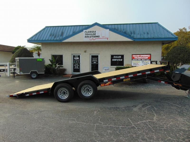 New Doolittle Trailer Mfg 84X20 EZ Loader Full Power Tilt Equipment Trailer