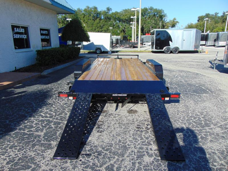 New Sure-Trac 7X18 Wood Deck 7k Car Hauler
