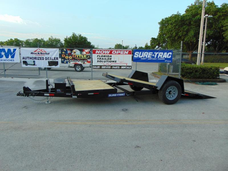 New Sure-Trac 78X12+4 Tilt Deck 10K Equipment Trailer
