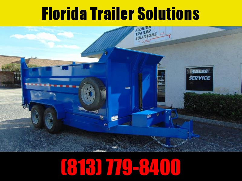 New Sure-Trac 82X14 16K-4ft Sides- Telescopic Dump Trailer