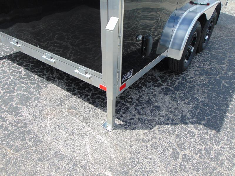 "New NEO Trailers 7.5X16 Aluminum Enclosed Cargo / Motorcycle Trailer 12"" Addtl Height"