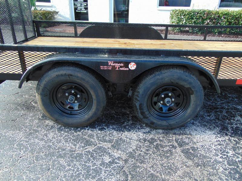 New Worldwide Trailer 7X14 Tandem Axle Utility Trailer w/1' Mesh Sides