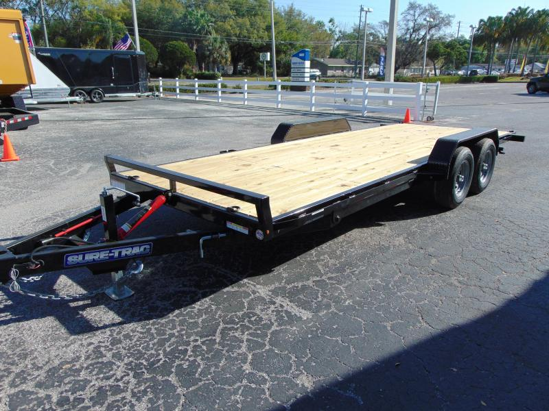 2020 Sure-Trac 7X20 10k Tilt Bed Car / Racing Trailer