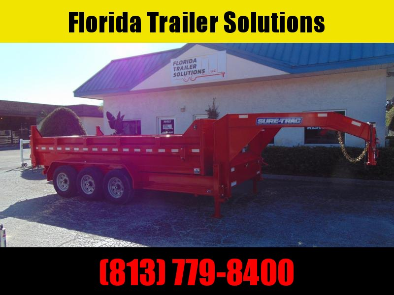 New Sure-Trac 82X16 21k Gooseneck Dump Trailer